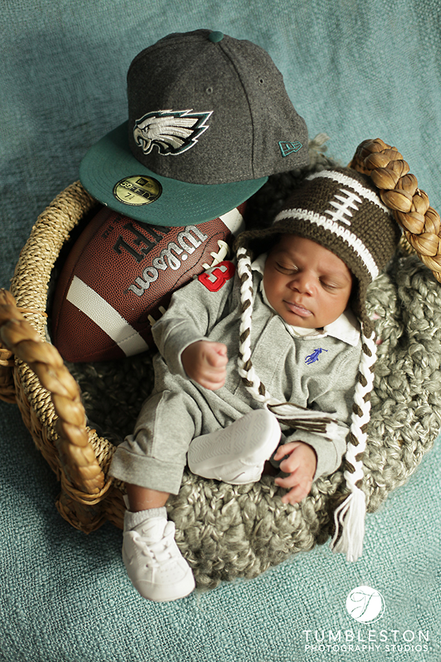 Newborn football photography