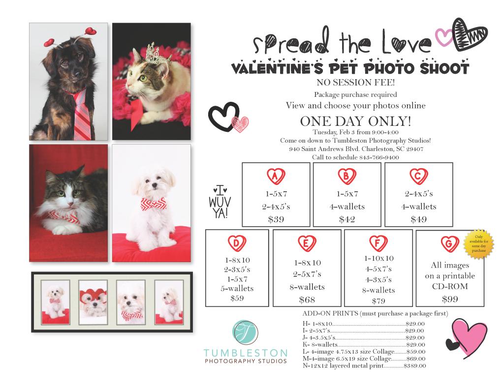 Flyer_Spread the love v-day pet special (in-studio)